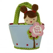 Aurora World Plush - Mini Fancy Pals Doll Carrier - GIRL in Blue with Tree Carrier (5 inch) by Aurora