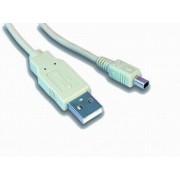 Cablu PC; USB 2.0 A M la mini-USB M; 1m