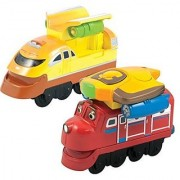 Chuggington StackTrack Duo Value Pack Die Cast Toy Trains for Toddlers Includes Jet Pack Wilson and Jet Pack Action Chug