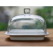Máslenka sklo a porcelán
