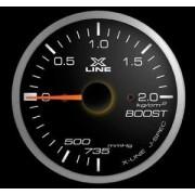 Manometro Pressione Turbo STRI - 52 mm Nero bianco