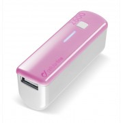 Външна батерия за телефон 2600 mAh (розова)
