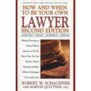 How and When to Be Your Own Lawyer by Robert W Schachner
