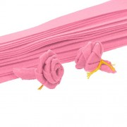 Magideal Non Woven Fabric Ribbon for Handmade Rose Flower DIY Crafts Kids Toys Pink