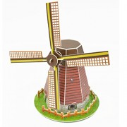 Imported 3D Puzzle Jigsaw Holland Windmill Model DIY Educational Toy
