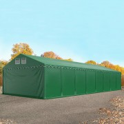 Profizelt24 Lagerhalle 6x24m PVC dunkelgrün Zelthalle, Lager, Industriezelt