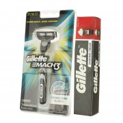 Gillette Mach 3 Einkopfrasierer + Gillette Shaving Cream Regular 30 g M