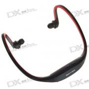 USB recargable de moda Sport MP3 Player con ranura TF (Rojo)
