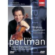 Itzhak Perlan,Daniel Barenboim,Berliner Philharmoniker - Beethoven,Brahms-Violin Concerto (DVD)