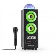auna DiscoStar Green Enceinte portable Bluetooth 2.1 USB SD UKW AUX LED -verte