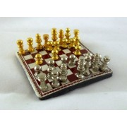 Dolls House Miniature 1:12 Scale Study Accessory Chess Set by Melody Jane Dolls Houses