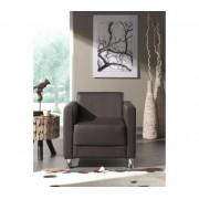 CUTE fauteuil design en simili chocolat