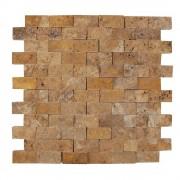 Mozaic Travertin Yellow Scapitat 2.5 x 5 cm
