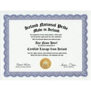 Iceland Icelander Icelandic National Pride Certification: Custom Gag Nationality Family History Genealogy Certificate (Funny Customized Joke Gift - Novelty Item)