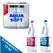 PACHET CLASIC B: Solutie dizolvare deseuri + Odorizant de igienizare + Hartie igienica speciala