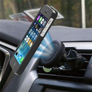 Mount 2016 novo carro único ventilação de ar magnética titular para todos os smartphones de telefones móveis