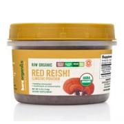 BareOrganics RED REISHI (Lingzhi) MUSHROOM POWDER (Raw - Organic) (4oz) 114g