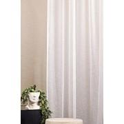 Fehér voila kész függöny, drapp szürke kockás/017/Cikksz:01122175