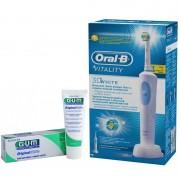 Periuta electrica ORAL-B Vitality D12-513 3D White + Pasta de dinti GUM Original White 75ml