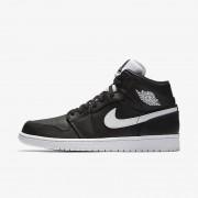 Nike Air Jordan 1 Mid Negro,Blanco,Blanco