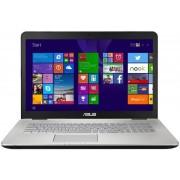 """Laptop ASUS N751JK-T7085P (Procesor Intel® Core™ i7-4710HQ (6M Cache, up to 3.50 GHz), Haswell, 17.3""""FHD, 8GB, 1TB @7200rpm, nVidia GeForce GTX 850M@4GB, Wireless AC, Tastatura iluminata, Win8.1 Pro)"""