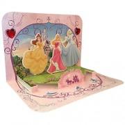 Tarjeta gráfica en 3D, diseño de princesas Disney