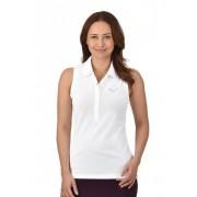 Trigema Damen Polo-Shirt mit Swarovski® Kristallen Größe: M Material: 94 % Baumwolle, Mako-supergekämmt, 6 % Elastan Farbe: weiss