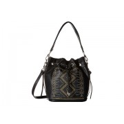 Chinese Laundry Emmanuelle Pinstud Single Handle Bucket Bag w Adjustable Strap Black