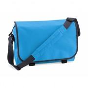 Blauwe laptoptassen met schouderband 11 l