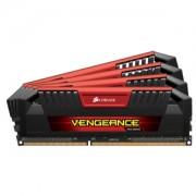 Memorie Corsair Vengeance Pro Red 32GB (4x8GB) DDR3 1866MHz CL10 1.35V Dual / Quad Channel Kit, Black/Red, CMY32GX3M4C1866C10R