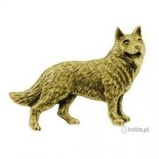 A.Svietlana Broszka 3D Owczarek mosiądz złocisty