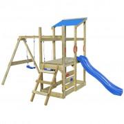 vidaXL Playhouse Set with Ladder, Slide and Swings 400x226x235 cm Wood