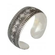 Zaful Rhombus Floral Cuff Bracelet