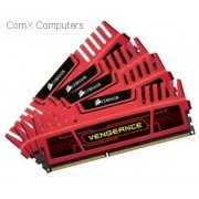 Corsair CMZ16GX3M4A2400C9R Vengeance 16GB (4GB x 4) memory kit with Red heatsink