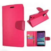 Korean Sonata Wallet Case for Samsung Galaxy Note Edge - Hot Pink