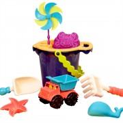 Galeata cu 9 jucarii de nisip B.Toys