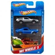 Auto racebaan autootjes Hot Wheels 3 stuks
