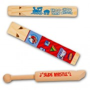 Thomas the Train Whistle Party Favors Pack -- 3 Classic Wooden Whistles (1 Thomas Train Whistle, 1 Choo Choo Whistle, 1 Slide Whistle)