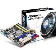 ASRock G41C-GS R2.0 Scheda Madre, Nero