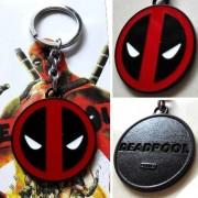 Marvel X-Men Deadpool Logo Black Red 5cm Metal Keychain Keyring