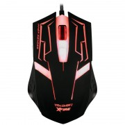 Mouse Gamer Skanda com 3200 DPI com 7 Botões (Vermelho)