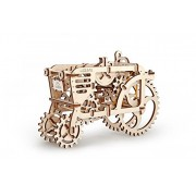 Unique Glue Free Eco Friendly Wooden Mechanical Self Assembly Moving Kit - Tractor by UGEARS