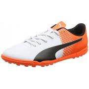 Puma evoSpeed 5,5 TT Botas de Fútbol, Puma/Black/White Puma Shocking Orange, 10,5