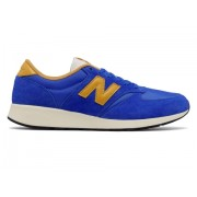 New Balance Men's 420 Re-Engineered Suede Blue with Yellow