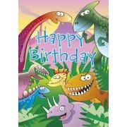 Happy Birthday - Dinosaur by Mark Davis