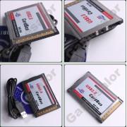 Адаптер за лаптоп PCMCIA to 2 port USB 2.0 оставащ скрит в слота