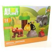 Animal Planet 14 pc Set Animal Friends Junior Building Blocks LEGO DUPLO Size