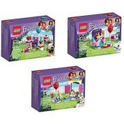 LEGO Friends Party Bundle 3 Sets: Party Cakes 41112 Party Gift Shop 41113 Party Styling 41114