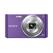 """Sony DSC-W830 - Cámara compacta de 20.1 Mp (pantalla de 2.7"""", zoom óptico 8x, estabilizador óptico), violeta"""