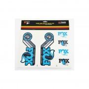 Fox Racing Shox Fork and Shock Decal Kit - DVD & Calendriers - bleu DVD & Stickers